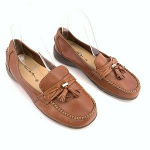 Thom McAn Loafers Brown Leather Size 8